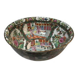 Antique Chinese Hand Painted Bowl For Sale