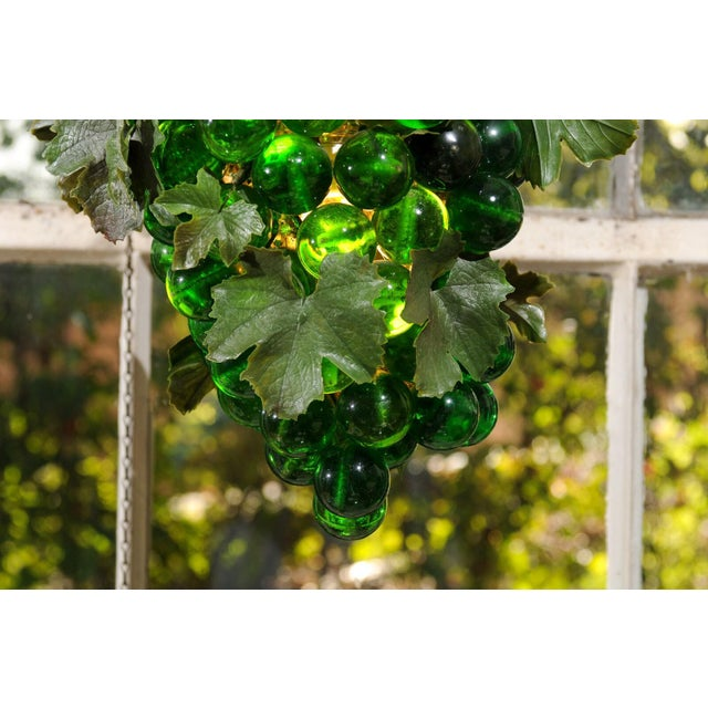 1950s Midcentury Grape Cluster Light of Green Lucite For Sale - Image 5 of 8