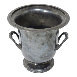 Antique Christofle France Silverplate Champagne Bucket For Sale