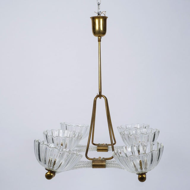 Excellent extra large ercole barovier art deco six light chandelier extra large ercole barovier art deco six light chandelier image 9 of 10 mozeypictures Gallery