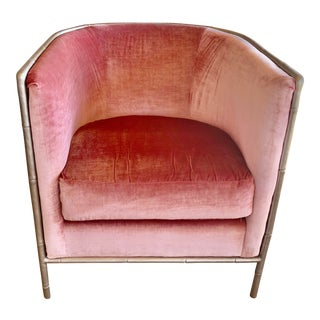 Bernhardt Interiors Pink Velvet Meredith Chair For Sale