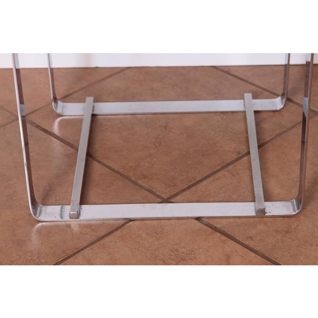 Chrome Gilbert Rohde for Troy Sunshade Machine Age Art Deco Side or End Cocktail Table For Sale - Image 7 of 11