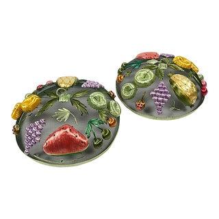 Mesh & Raffia Picnic Platter Covers - a Pair For Sale