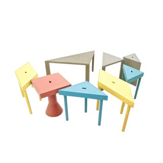Massimo Morozzi Tangram Tables for Cassina, 1983 For Sale