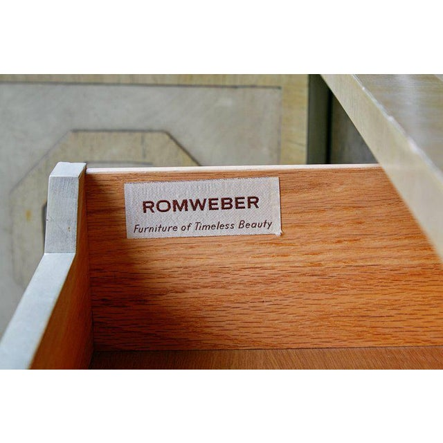 Harold Schwartz for Romweber Sideboard With Decorative Tile Pulls, Circa 1970 For Sale - Image 10 of 11