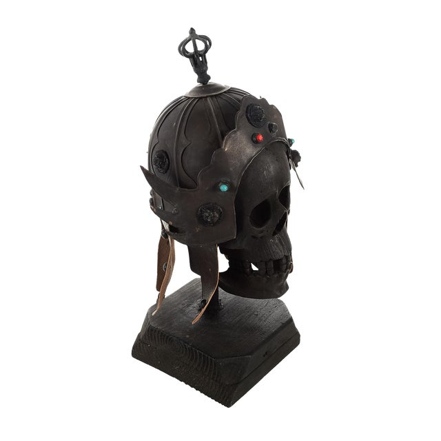 Chinese Bronze Warrior Helmet For Sale