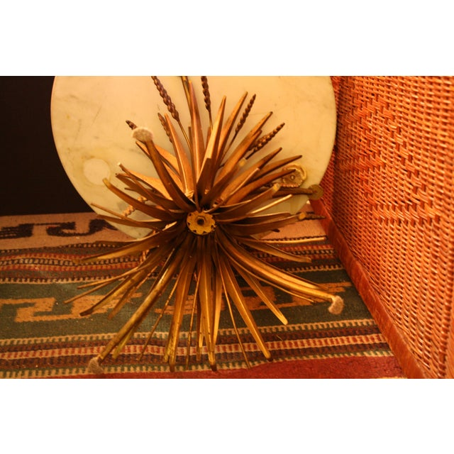 Vintage Italian Wheat Sheaf Marble Top Table - Image 6 of 7