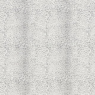Schumacher Mini Leopard Indoor/Outdoor Fabric in Charcoal For Sale