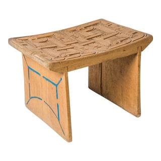 Carved Wood Stool From Suriname For Sale