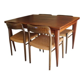 Danish Modern Moller African Wenge Dining Set - Set of 5