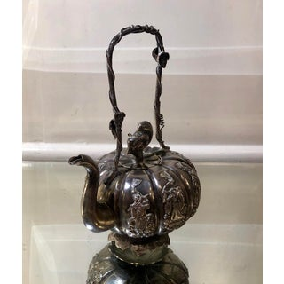 Antique Chinese Silver Tea Pot W Squirrel Finial Preview