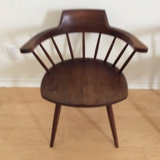 1950s Vintage Signed Nakashima Walnut Captain's Chairs- A Pair Preview