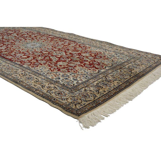 Islamic Vintage Persian Nain Rug With Traditional Style - 03'09 X 07'03 For Sale - Image 3 of 5