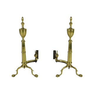 19th-C. Georgian Style Andirons - A Pair For Sale