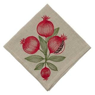 Cottage Pomegranate Dinner Napkin For Sale