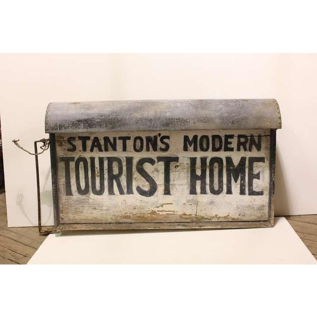 """Great 1920's light up """" Tourist Home """" double sided sign."""