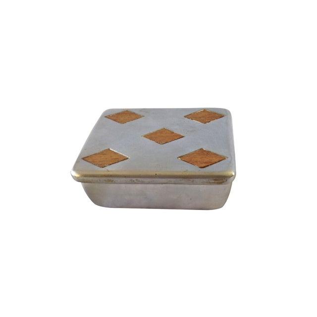 "Vintage Ben Seibel Silver ""Five of Diamonds"" Box - Image 2 of 5"