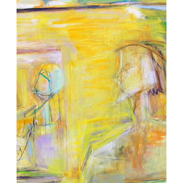 """2010s """"Artist and Model"""" by Trixie Pitts Extra-Large Abstract Oil Painting For Sale - Image 5 of 11"""