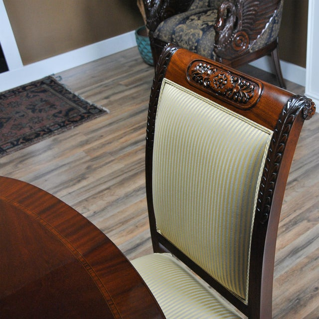 Niagara Furniture Carved Empire Upholstered Side Chair For Sale - Image 12 of 13
