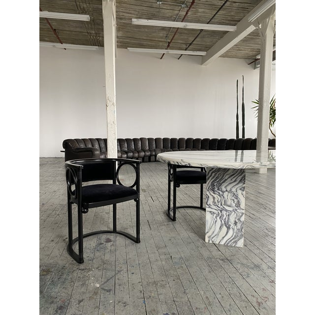 1980s Postmodern Oval Marble Dining Table For Sale In New York - Image 6 of 8