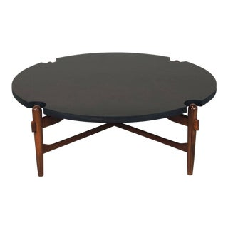 Cut-Out Coffee Table Attributed to Greta Grossman For Sale