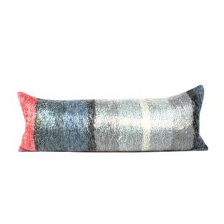 Blue Mohair Soft Wool Bed Throw Pillow
