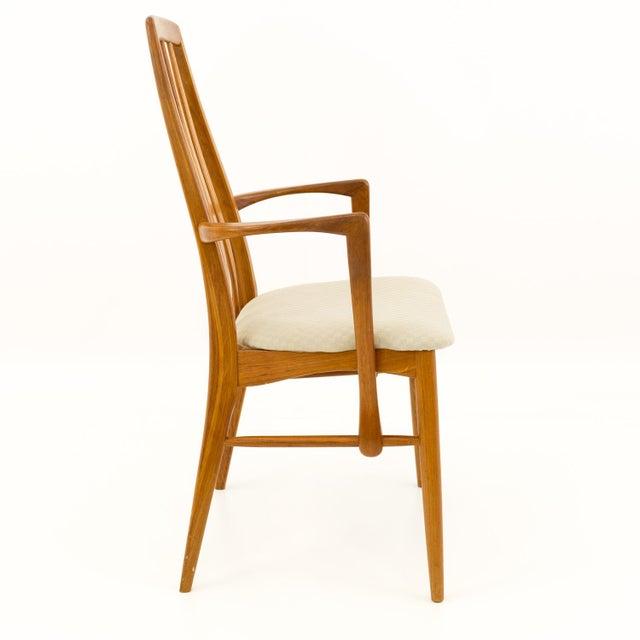 Brown Vintage Mid Century Niels Koefoed Hornslet Danish Teak Eva Dining Chairs - Set of 6 For Sale - Image 8 of 13