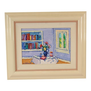 Interior Scene Painting by Vincent Farrell For Sale