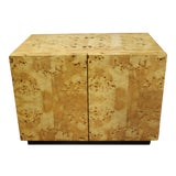 Image of 1970s Milo Baughman For Thayer Coggin Burl Wood Nightstand For Sale