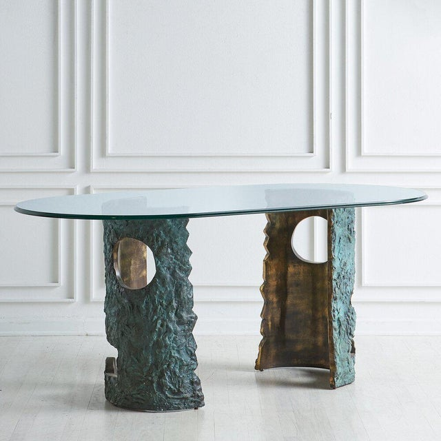 Bronze Brutalist Dining Table by Valenti Madrid For Sale - Image 13 of 13
