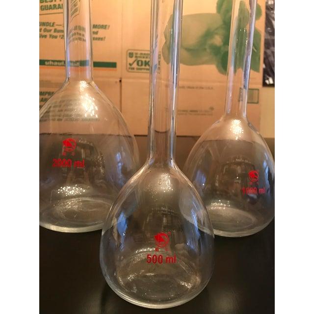 Vintage Shuniu Lab Bottles - Set of 3 For Sale - Image 4 of 9