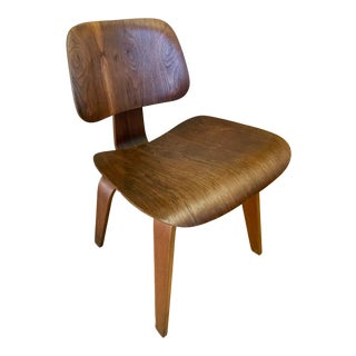 1940s Vintage Eames for Herman Miller Evans Walnut Dcw Chair For Sale