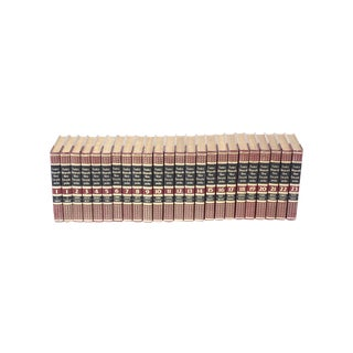 Complete Collection Gilt Leather Bound Book Set - 23 Pieces For Sale