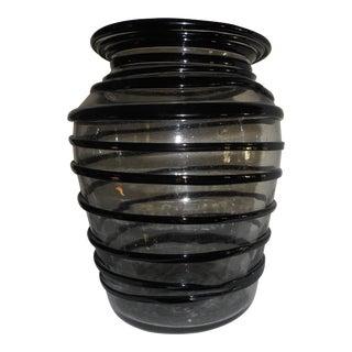 Murano Art Glass Swirl Vase