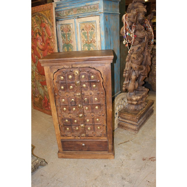 Anglo-Indian Antique Indian Doors Small Cabinet For Sale - Image 3 of 7 - Antique Indian Doors Small Cabinet Chairish