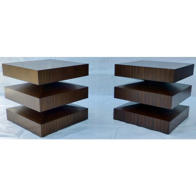 Danish Modern Cubist Stacked Rosewood End Tables- A Pair - Image 11 of 11