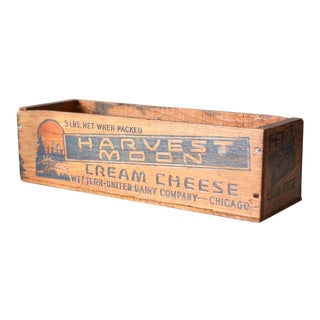 Vintage Wooden Cheese Box For Sale