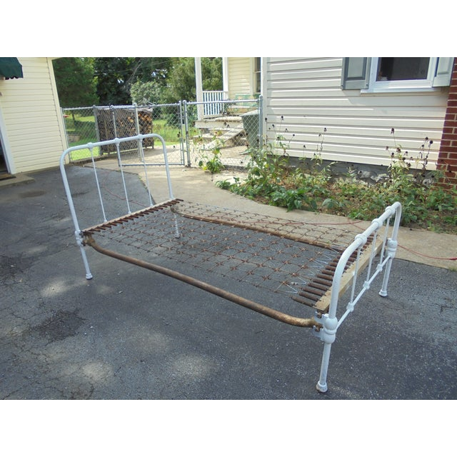 Vintage Iron Twin Bed - Image 8 of 8