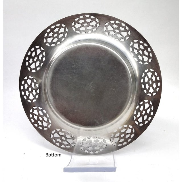 Oneida Silver Cutout Wine Plate - Image 3 of 10