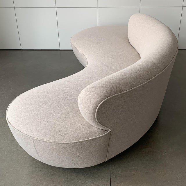 "Valdimir Kagan for Directional Mid-Century Modern ""Cloud"" Sofa For Sale In Chicago - Image 6 of 13"