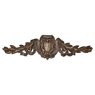 Antique Nickel-Plated French Bronze Mount Plaque For Sale