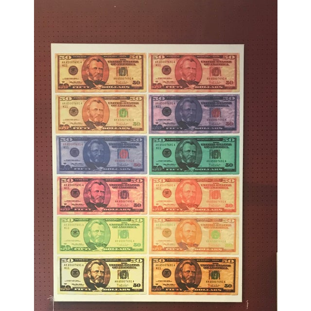 Contemporary Ulysses S. Grant $50.00 Bills Canvas Art For Sale - Image 3 of 3