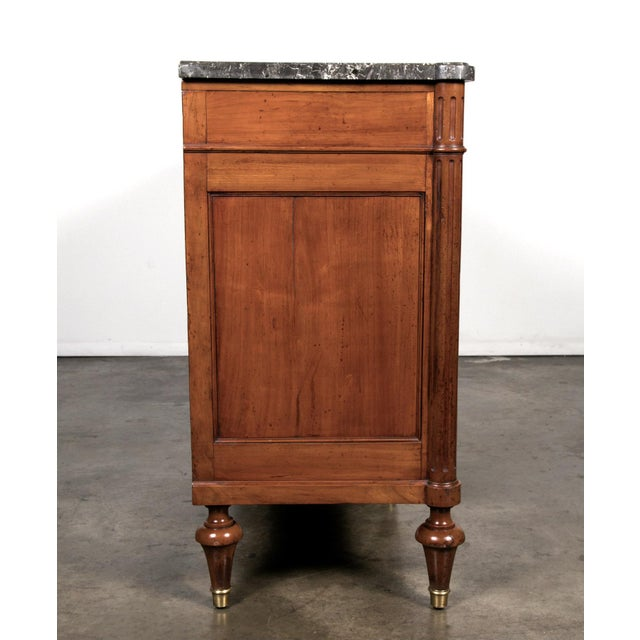 19th Century Louis XVI Walnut Enfilade with Marble Top - Image 10 of 11