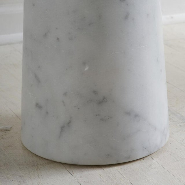 White Carrara Marble Eros Console Table by Angelo Mangiarotti for Skipper, Italy For Sale In Chicago - Image 6 of 7