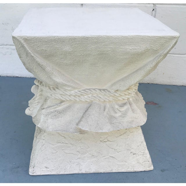 Late 20th Century Faux Plaster Drape Pedestal / Table Base For Sale - Image 5 of 6