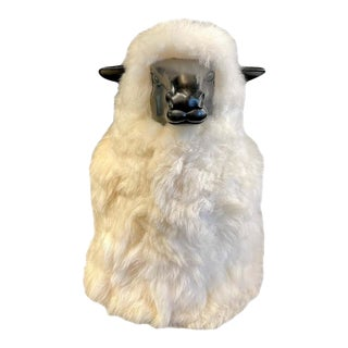 Large Wool / Resin Sheep in the Style of Francois-Xavier Lalanne For Sale
