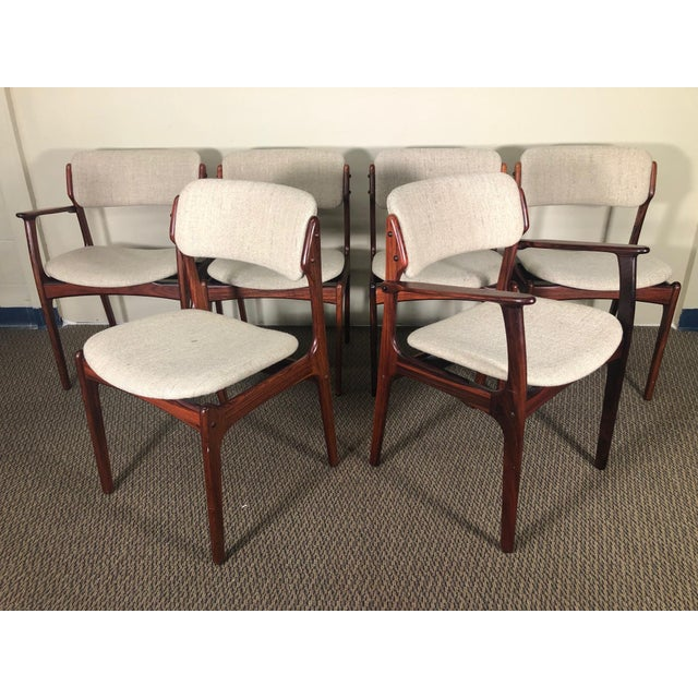 Set of 6 Rosewood Mid Century Danish Dining Chairs by Erik Buch Buck For Sale - Image 13 of 13