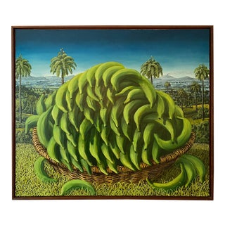 Platanos Verdes Oil on Canvas Painting by Rafael Saldarriaga, 2003 For Sale