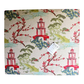 Large Upholstered Chinoiserie Memo Board For Sale