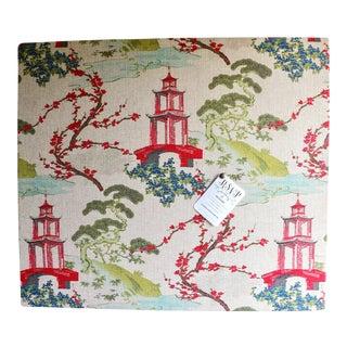 Upholstered Chinoiserie Memo Board